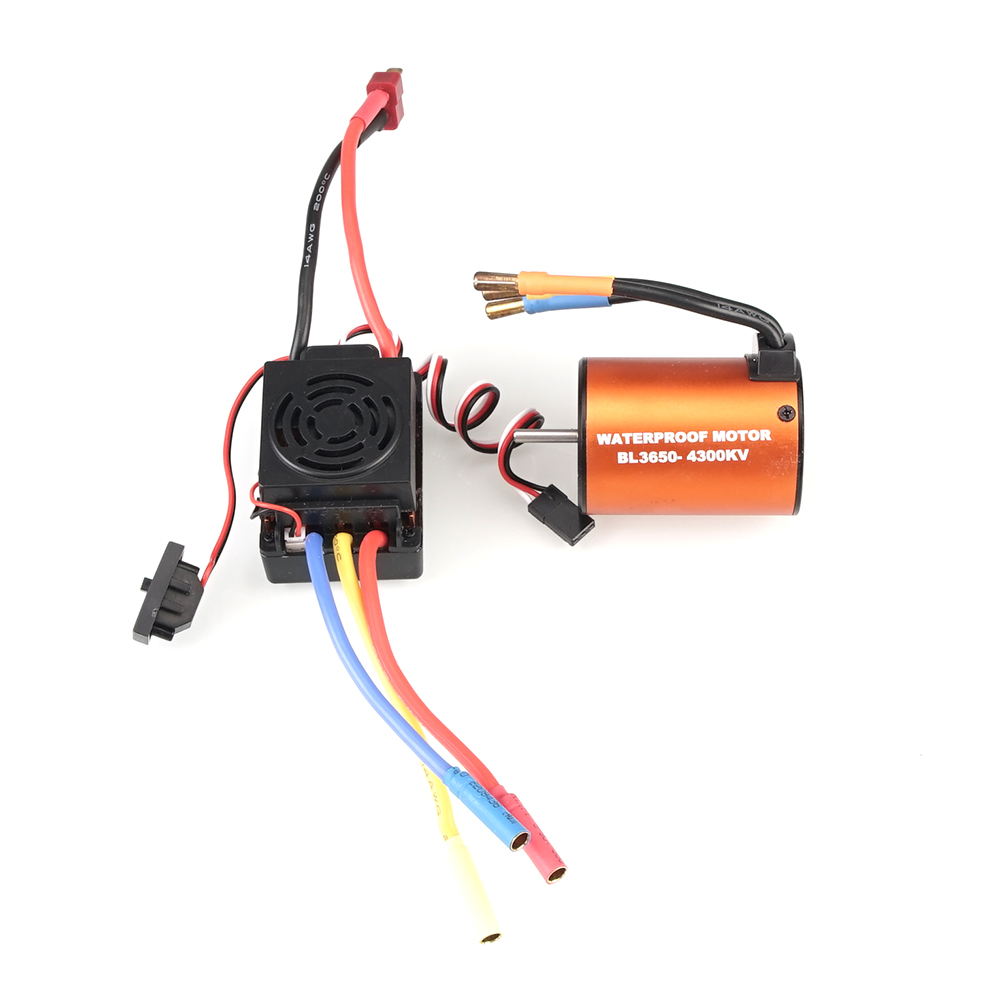 Image 2 - WLtoys 12428 Upgrade parts 3300KV brushless motor 60A ESC servo power set components Third channel switch Metal differential-in Parts & Accessories from Toys & Hobbies