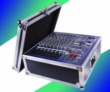 Hot sale Professional DJ Mixer De Áudio Alimentado Canal Mezcladora de DJ Mikser Mischer design de Baixo ruído de 8 Estrada