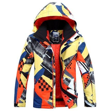 2018 Gsou Neige combinaison de ski mâle Imperméable et Respirante chaud veste de ski en plein air coupe-vent protection contre le froid ski costume pour les hommes