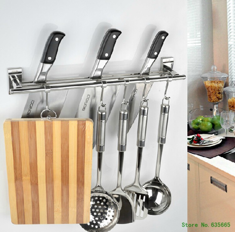 Kitchen Wall Accessories Stainless Steel: Wall Hook Stainless Steel Toolholder Fruit Knife Block
