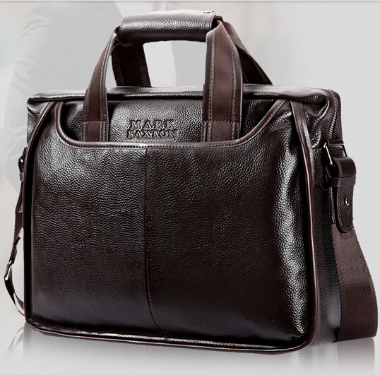 Brand Men Genuine Leather Briefcases Brown Leather Men Handbag Maletin Hombre Mens Briefcase Men Messenger Bags Work Bag B00026