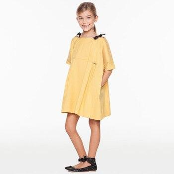 ed0cde2296 Los niños de verano Casual de otoño niña princesa simplemente calidad vestido  niñas vestidos de fiesta de cumpleaños de los niños de algodón de ropa