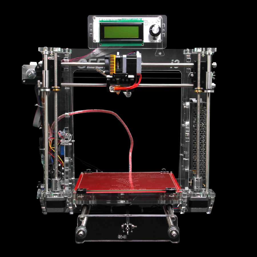 Newest Geeetech Prusa i3 3D Printer Transparent Acrylic Frame Impressora DIY Kit Machine 5 Materials Support