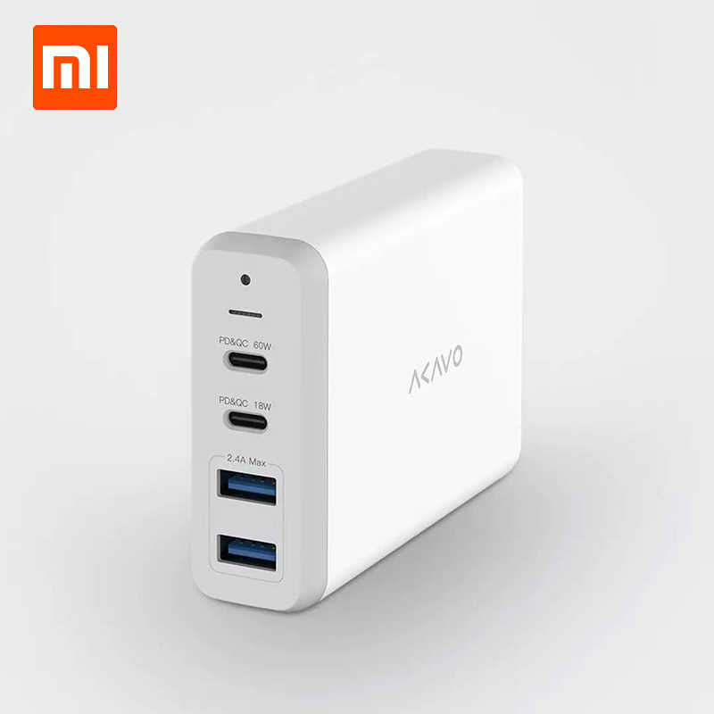 Xiaomi Akavo F1 Multi Port Charger 75W Super Power Port Multi Dukungan Protokol Utama Notebook Kompatibel untuk Redmibook 14