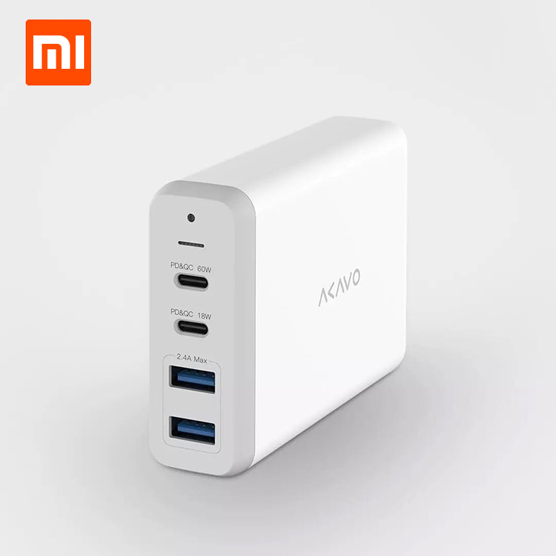 Xiaomi AKAVO F1 Multi Port Charger 75W super power C port multi protocol support Mainstream notebook compatible For Redmibook 14-in Smart Remote Control from Consumer Electronics    1