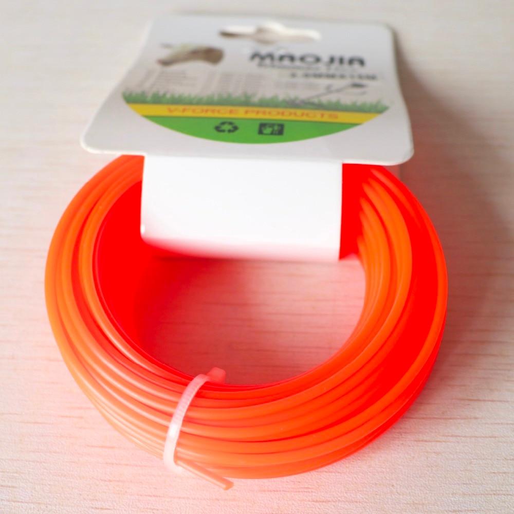 Grass Trimmer Line 2.0mm Diameter 15M Round For Brush Cutter Power Nylon Line Grass Cutting