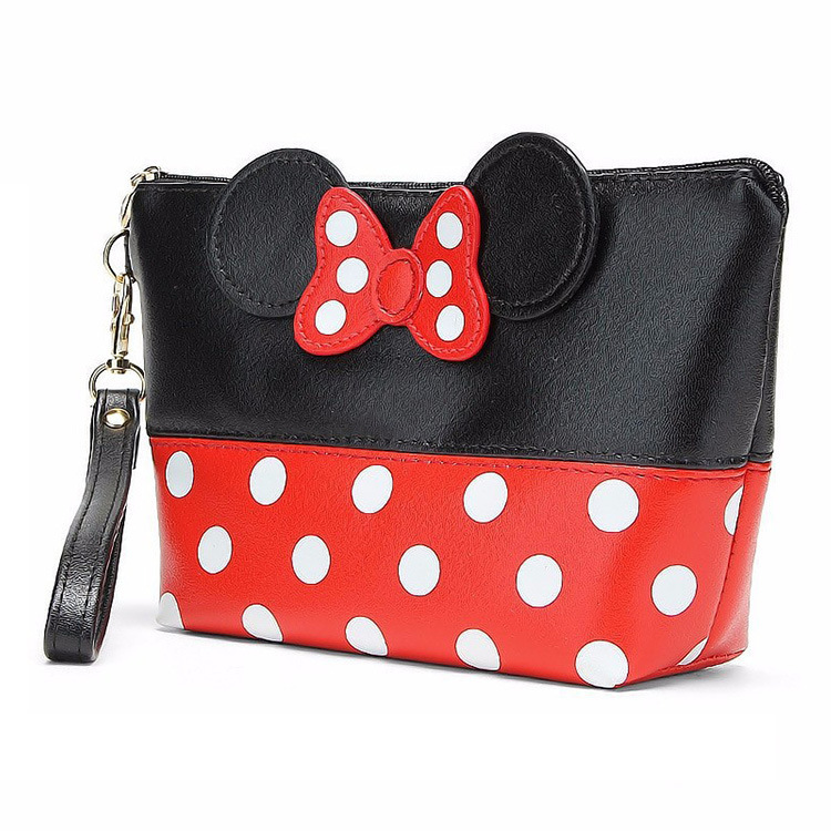 Makeup Bags Women Cosmetic Bag With Bow Mickey Pattern  Cosmetics Pouchs For Travel Make Up Bag Travelling Bag