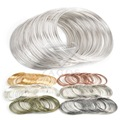 100 Loops 0.6mm Memory Beading Steel Wire For DIY Jewelry Findings Bangle Bracelet Making TL0031