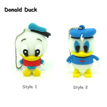 cartoon role Donald Duck USB Flash Drive cute Pen drive 4gb 8gb 16gb 32gb cool Gift Animal pendrive usb 2.0 creativo(China)