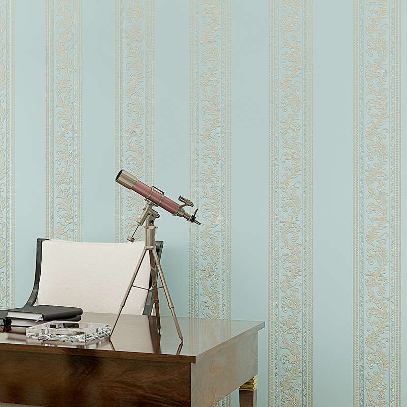 Beibehang rayures verticales non tissé 3D plancher papier peint chambre salon version papier peint précision pression processus