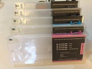 Image 4 - Pusty kartridż na tusz do ponownego napełniania z resetem czip do urządzeń firmy epson Stylus Pro 4000 7600 9600 drukarka 220ML