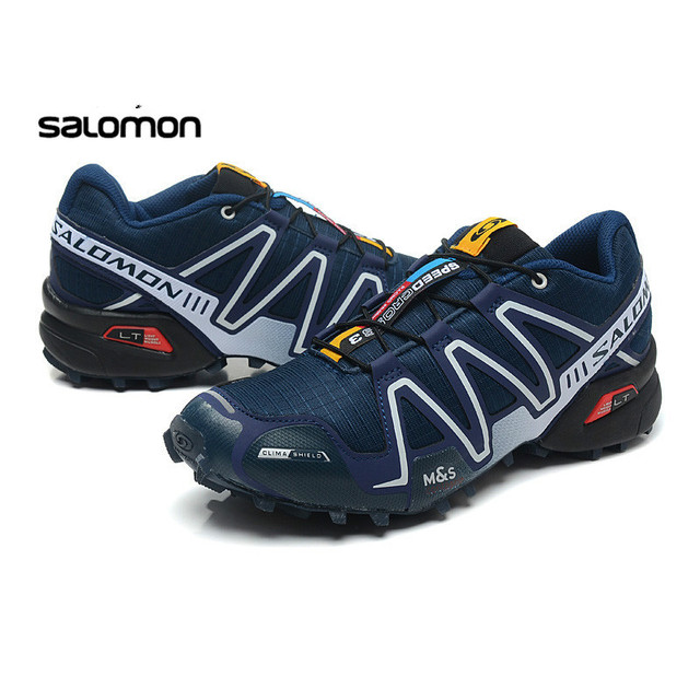 85ceb18b1fe1 2018 Salomon Men Shoes zapatos hombre Speed Cross 3 CS III Sport Sneakers  Men Black Blue yellow Speedcross Solomon Fencing Shoes
