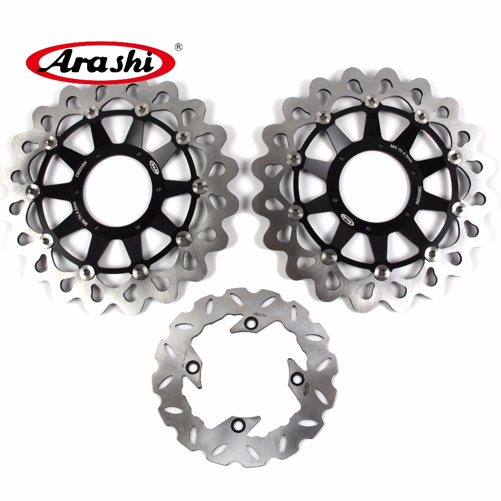 Arashi 1 Set For HONDA CBR1000RR 2008 2009 2010 2011 2012 2013 2014 2015 CBR 1000 RR Front Brake disk & Rear Brake Disc Rotor engine alternator clutch ignition cover set kit for honda cbr600rr cbr 600 rr 2007 2008 2009 2010 2011 2012 2013 2014 2015 2016