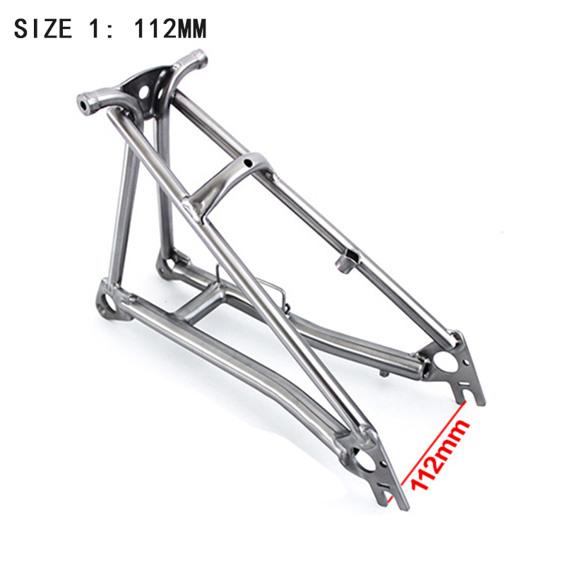 TWTOPSE 440-460g Titanium Bike Frame Fork For Brompton Folding Bicycle Rear Triangle Fork Frame Bicycle Part Lightweight