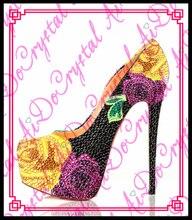 Aidocrystal 2016 heißer verkauf Frauen metall pumpt Rote Untere Schuhe High Heels Schuhe Luxus Designer gute qualität Leder Hochzeit Schuhe