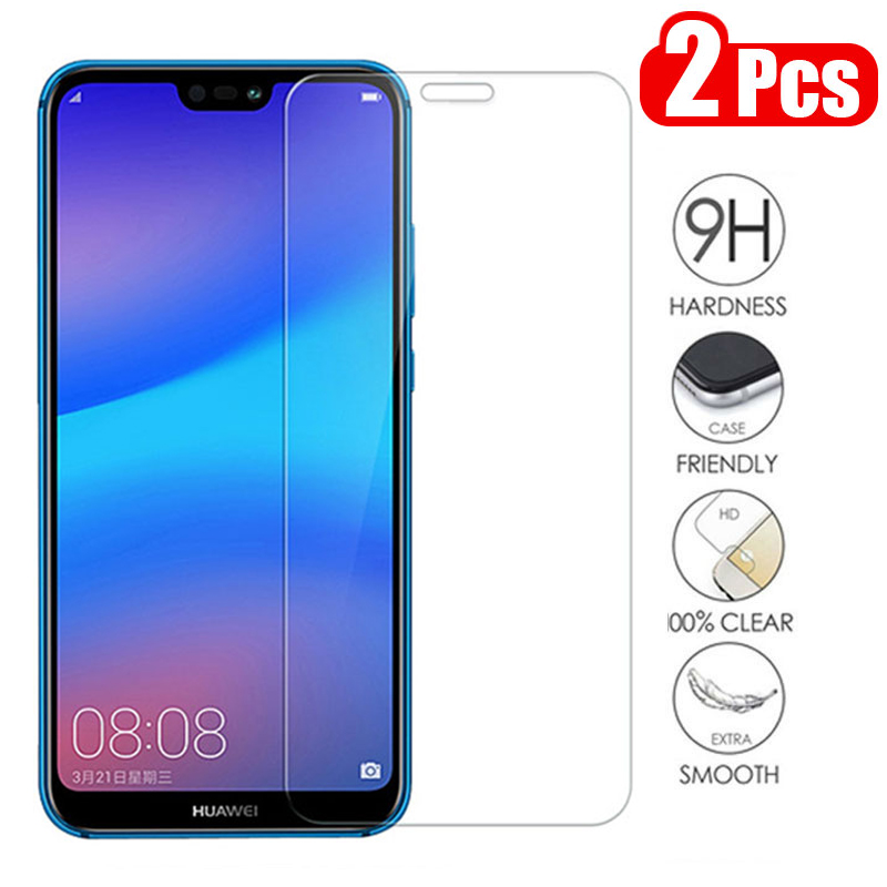 2Pcs Tempered Glass For Huawei P30 P20 Lite Y6 Y9 P Smart 2019 Mate 20 Screen Protector On Honor 10 9 8X Huawei P20 Lite Glass