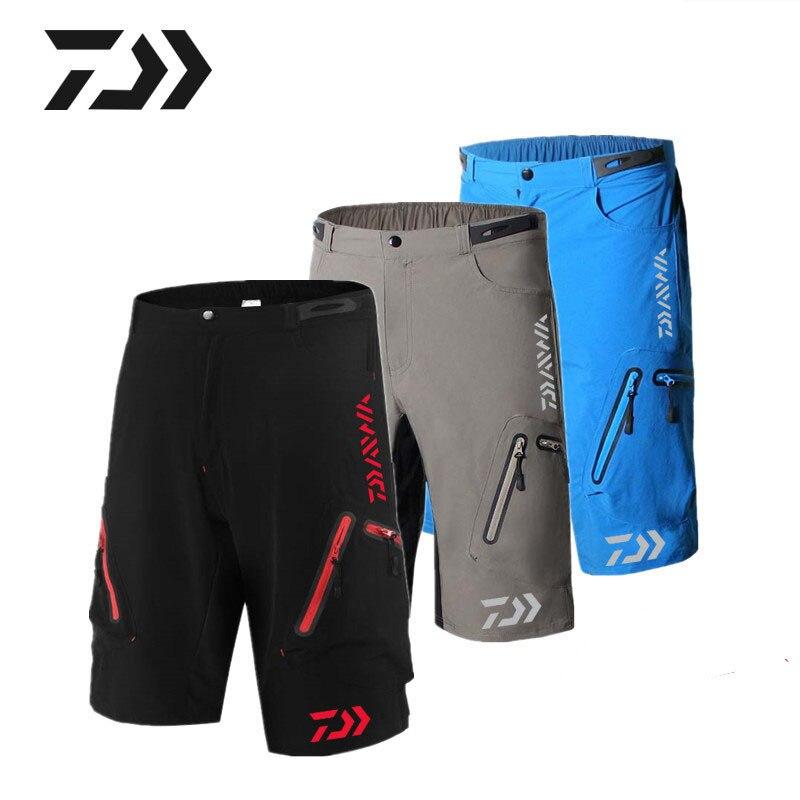Nouveau Dayiwa Shorts de pêche hommes Shorts de sport de plein air avec poches à glissière séchage rapide randonnée VTT Shorts de cyclisme Jersey