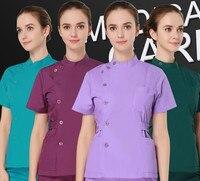Alta Calidad Trabajo esteticista ropa verano traje uniforme spa belleza Sets carrera trabajo calidad ventas envío libre