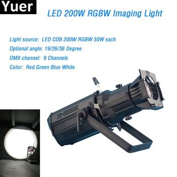 200W COB Led Prefocus Profile Light led Stage Light rgbw profile spot light led imaging Light dmx512 9 channels show follow spot