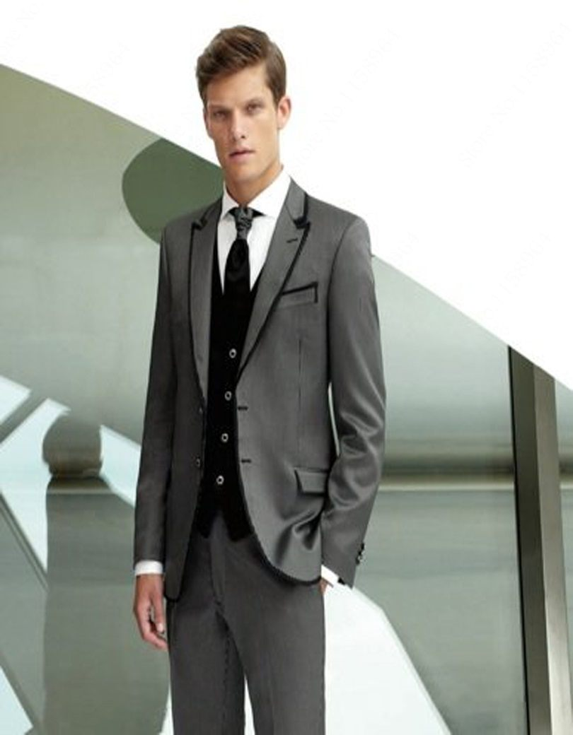 K:1392 Shop For Cheap New Arrival Mens Dinner Party Prom Suits Groom Tuxedos Groomsmen Wedding Blazer Suits jacket+pants+vest+tie