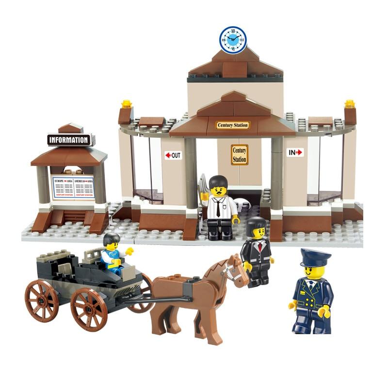 Sluban Model Building Compatible lego Lego B0230 175pcs Model Building Kits Classic Toys Hobbies Century Station