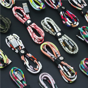 Leather colorful Micro USB typ