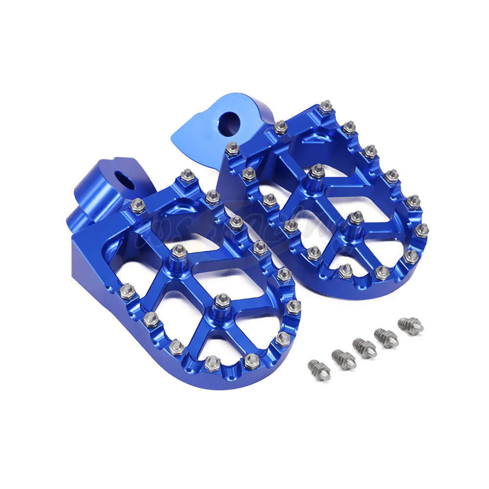 Motorcycle Billet MX Wide Foot Pegs Pedals Rest Footpegs For Husqvarna CR SM WR SMS WRE