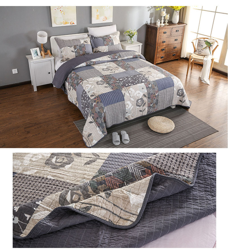 American Quality Patchwork Bedspread Set 3PCS bedding cotton Quilts Aircondition Bed Covers Super King Size Quilt Set Coverlet