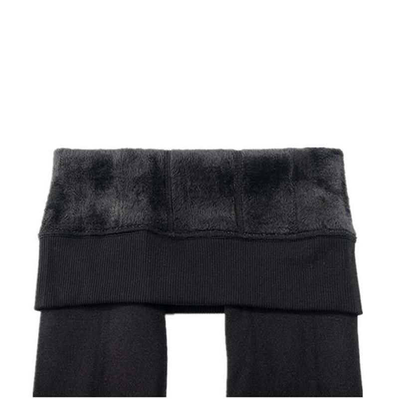 CHRLEISURE Warm Women's Plus Velvet Winter Leggings Ankle-Length Keep Warm Solid Pants High Waist Large Size Women Leggings 4