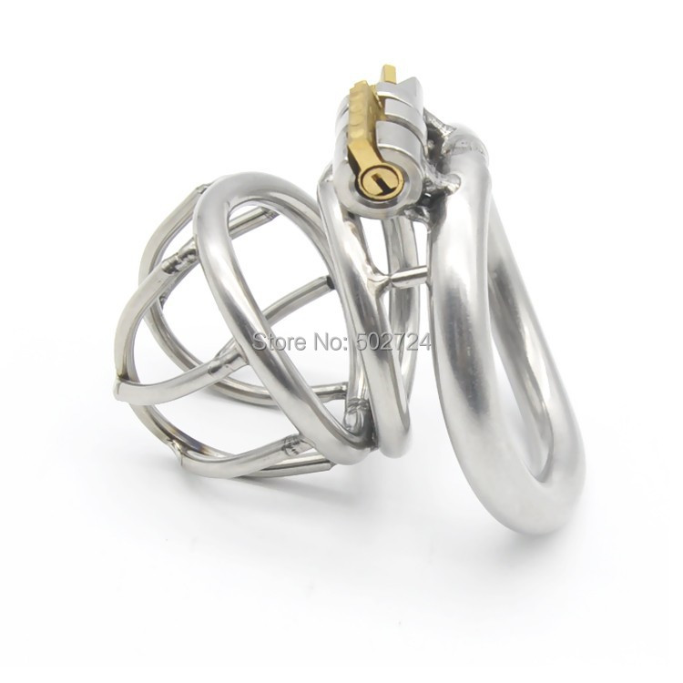 Adult Games Stainless Steel Male Chastity Device Cock Cage Penis Ring Chastity Belt Penis Cage For Men