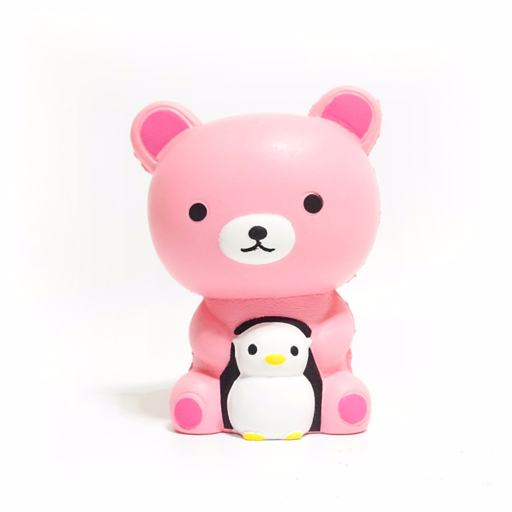 Soft Slow Rising Squishy Toys Cute Lovely Jumbo Big Bear Penguin Cartoon Animal Squishy Toys Doll With Good Smell Scented Gifts