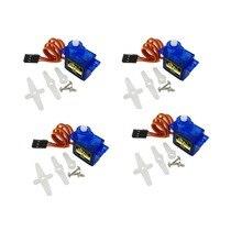 4 шт. SG90 9g мини микро сервопривод 180 градусов Серводвигатель для 450 RC вертолет самолет автомобиль Лодка робот FZ0101-DIY