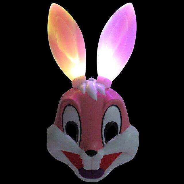Luminous toy Animation cartoon mask dance Flash rabbits mask
