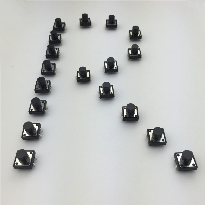 30pcs/lot 12x12x10MM 4PIN G87 Tactile Tact Push Button Micro Switch Self-reset DIP Top Copper Free Shipping Russia 50pcs lot 3x6x4 3mm 2pin tactile tact push button micro switch self reset free shipping