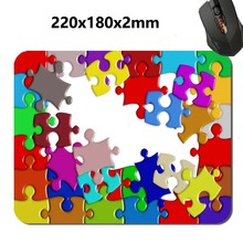 Colorful puzzle Print 2017 New Arrival Hot Selling Design High Quality Durable Computer Gaming Anti-Slip Laptop PC Mouse Pad
