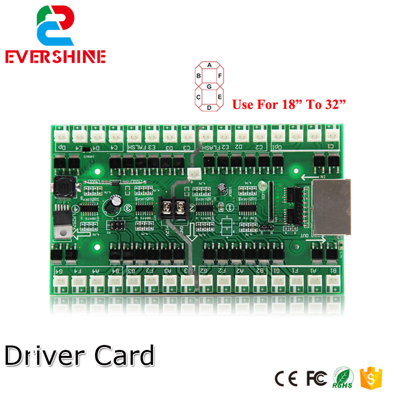 4/5/6 Numbers Driver Card Use For 18 inch to 32 inch LED Digital Number Module Gas Oil Price LED Sign Control Card