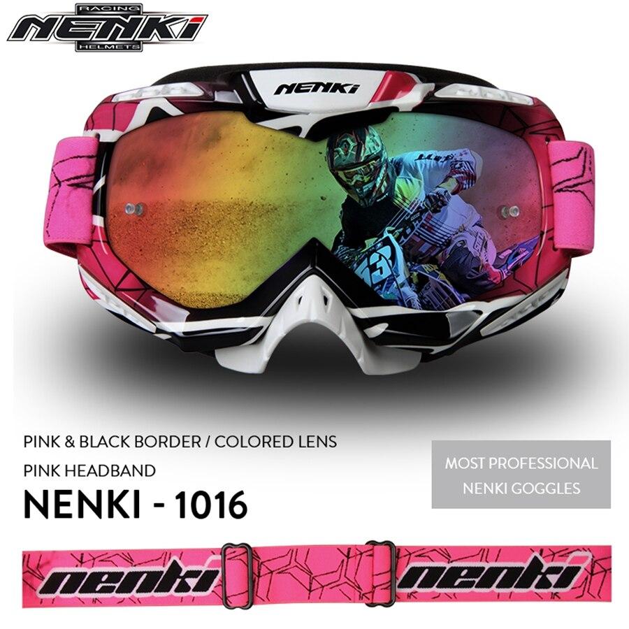 Livraison gratuite 1 pcs NENKI Moto Verre Vélo Motocross Lunettes anti-UV Casque Lunettes de Ski Moto Lunettes