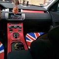 Для Land Rover Range Rover Evoque внутренняя Центральная панель управления дверная ручка из углеродного волокна наклейки для автомобиля Стайлинг Аксес...