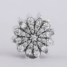 24c23db06 100% 925 Sterling Silver Cubic Zirconia Pave Ice Crystal Christmas Charm  Beads Fits Pandora Bracelets Diy Bead 2018 Winter New