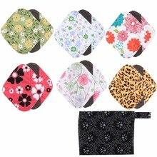 1 шт. моющийся Мокрый мешок+ 6 шт. многоразовые менструальные подкладки ткань бамбуковый уголь гигиенические менструальные прокладки для беременных женщин