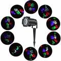 1X LED Projector Luz 10 Padrão Halloween Festa de Natal Ao Ar Livre jardim Lâmpada Do Projetor EUA REINO UNIDO DA UE AU Plug AC110-240V Led luz