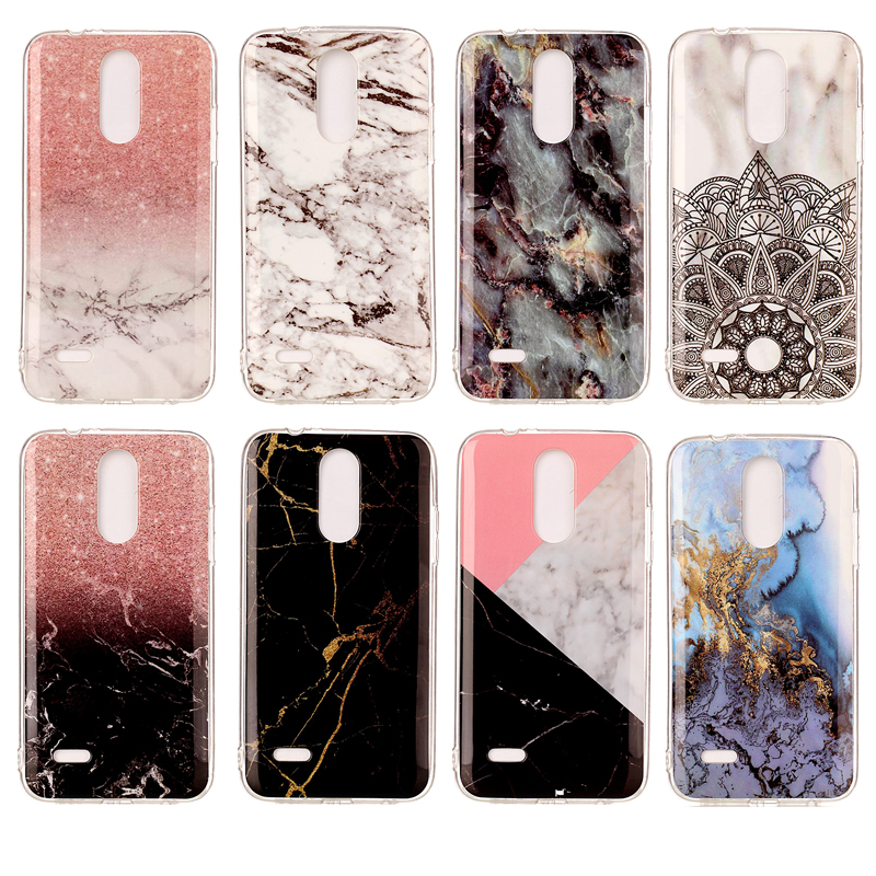 Marble Case For LG K4 2017 M160 Phoenix 3 Protector Shell