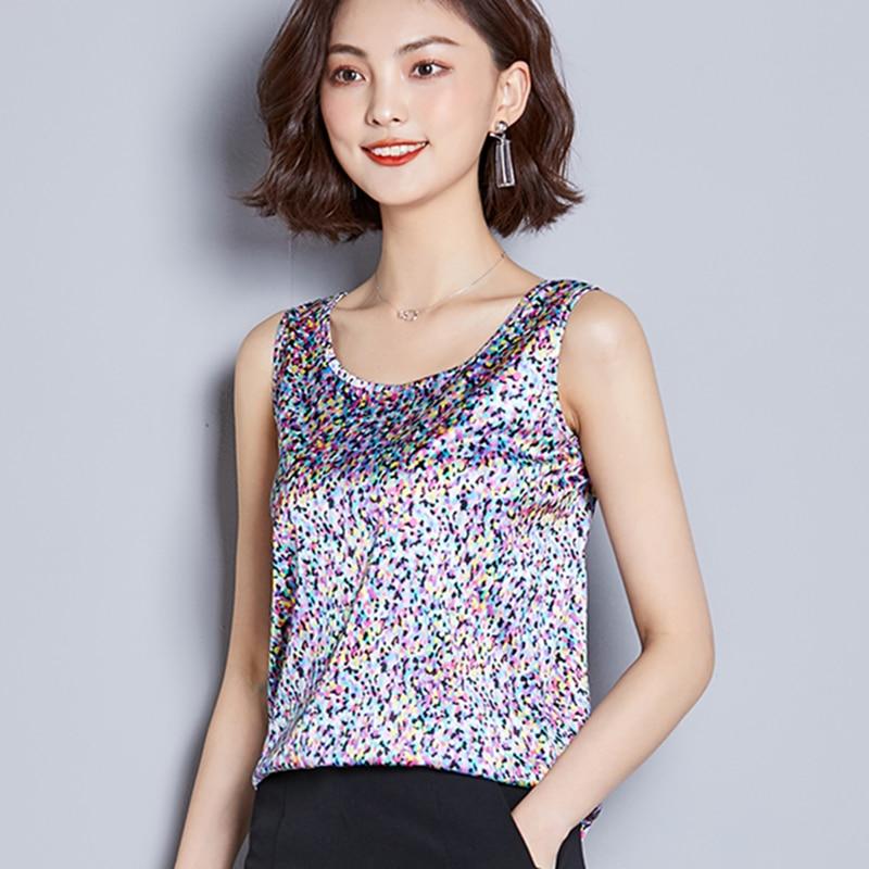 Fashion Silk Tops Women Tank Tops Streetwear Satin Snake Print Sleeveless Tank Top Plus Size XXXL Ladies Camisole Bottom Shirt in Tank Tops from Women 39 s Clothing