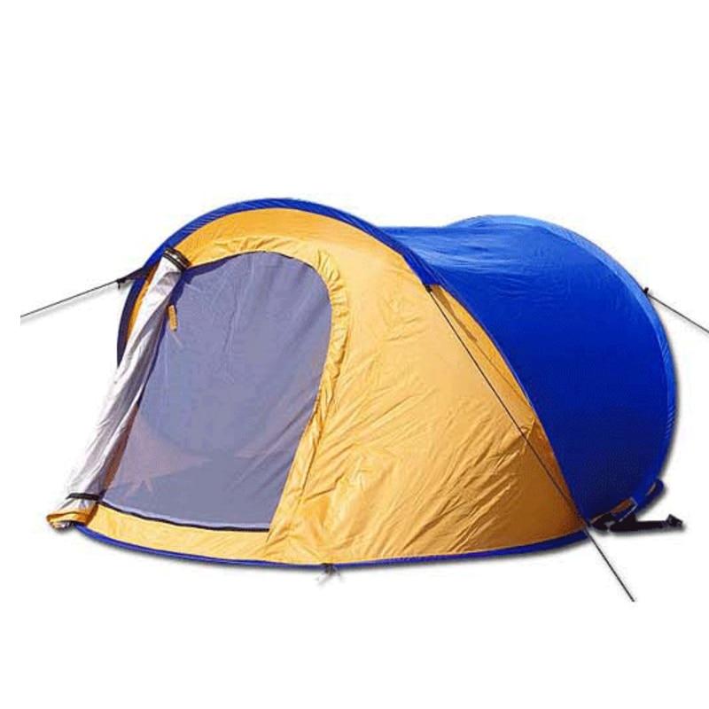 1 seconde vitesse ouverte automatique en plein air Camping tente Double couches coupe-vent Couple tente Pop Up étanche tente AA12024