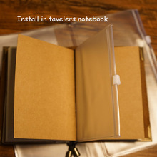 Travelers notebook inside PVC page material escolar  refiller papers have 3 types size install traveller notebook school supplie