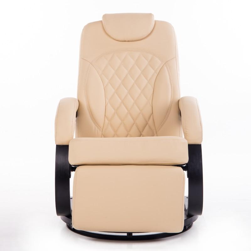 Grand Leatehr Salon Chaise Fauteuil Ergonomique Pivotant Inclinable - Fauteuil salon ergonomique