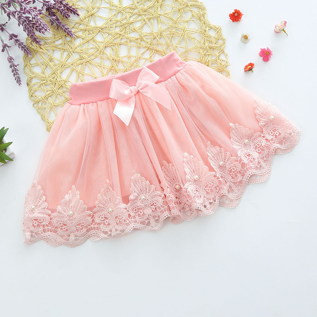 2016 new free shipping girls  cotto lace gauze skirts, pink purple grey color kkids princess candy color skirt