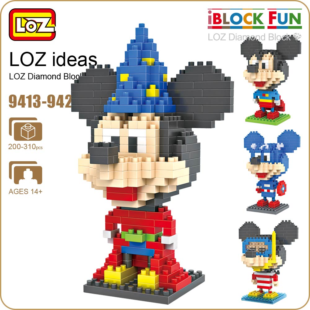 LOZ Blocks Pixels Cartoon Animals Micro Building Blocks Plastic Assembly Toys for Children Educational Diamond Bricks 9413-9422 loz diamond blocks dans blocks iblock fun building bricks movie alien figure action toys for children assembly model 9461 9462