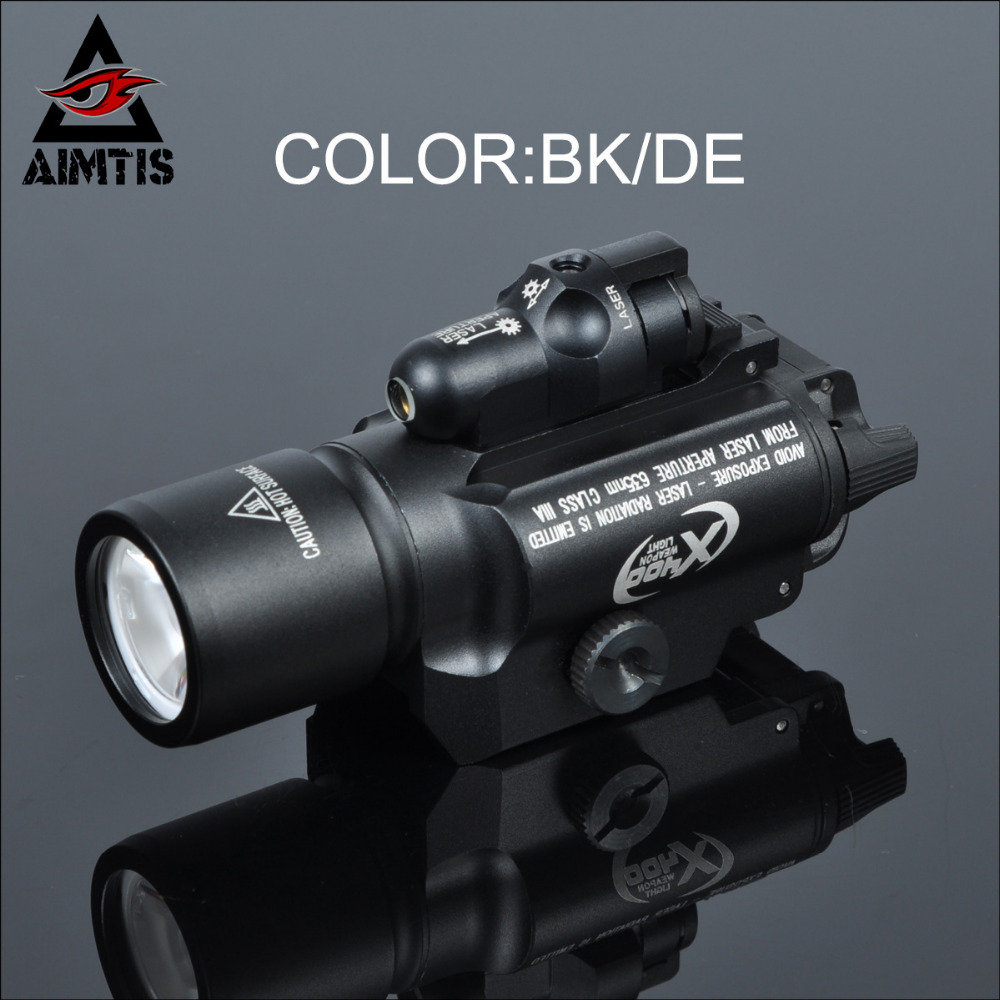 AIMTIS SF X400 Tactical Flashlight Led Gun Light Waterproof with Red Laser Fit 20mm Picatinny Rail Free Shipping laser head 440 bdp4110 sf bd414