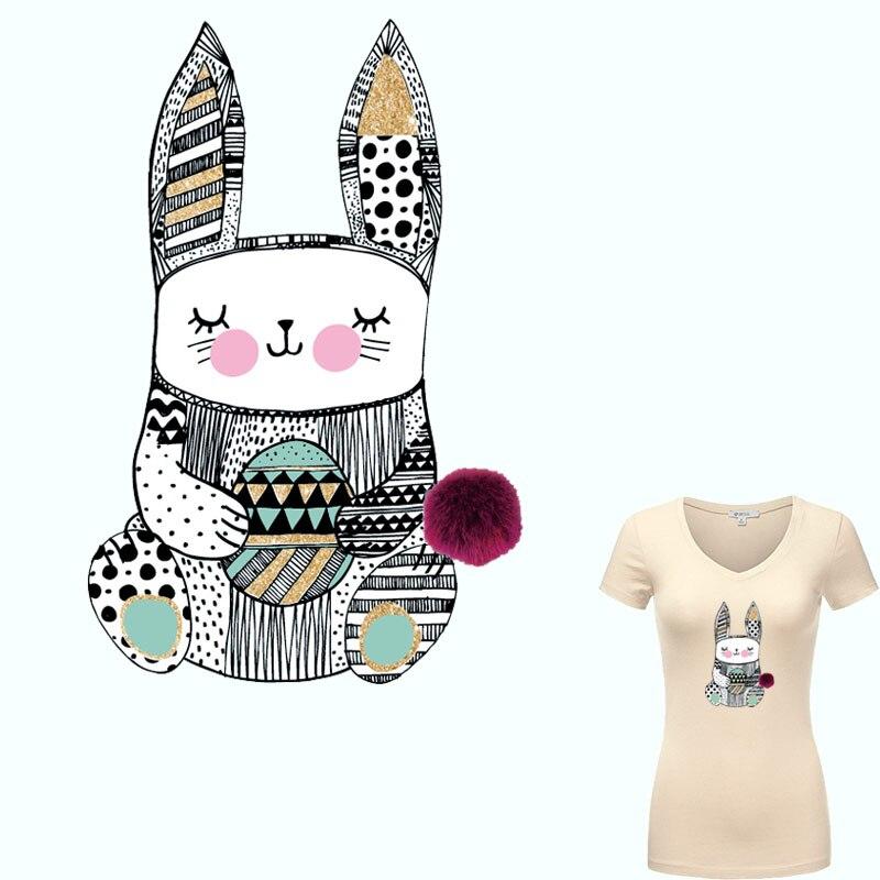 ₩Colife hierro en Parches para ropa cute conejo parche impresión ...